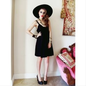 Dresses - Black Satin Dress